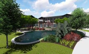 Creekside Assisted Living Back Plaza Rendering