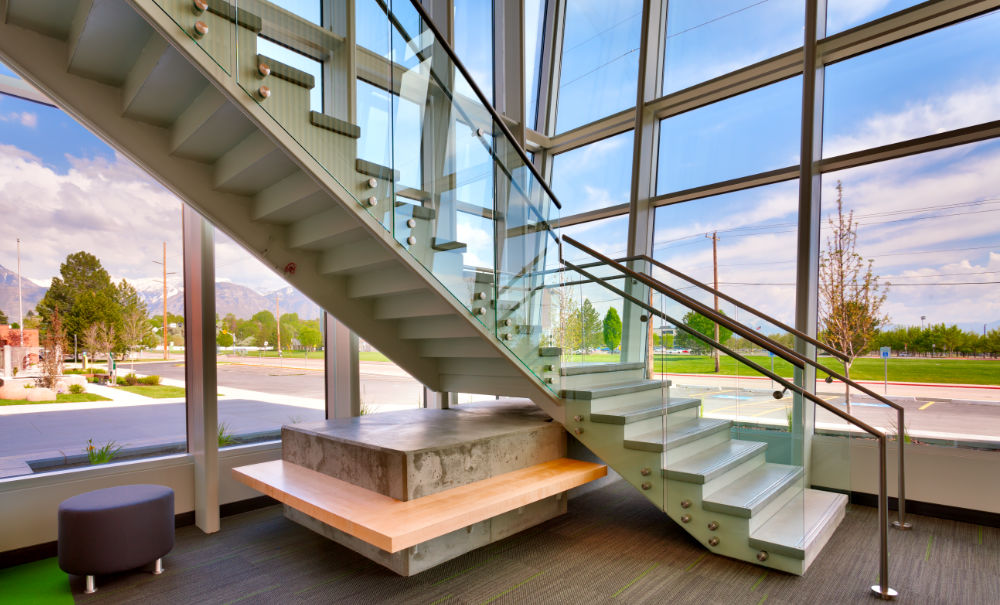 Higher-Education-Architecture-Utah-UVU-Nellesen-Autism-Center-Stairway