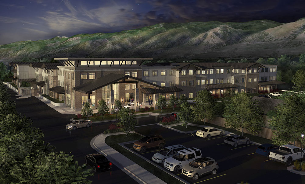Creekside-Senior-Living-Night-Architectural-Rendering