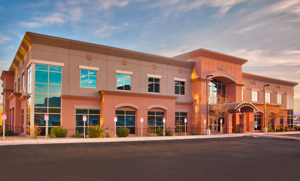 Coral desert health center building