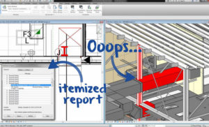 BIM Itemized Report Clash Detection